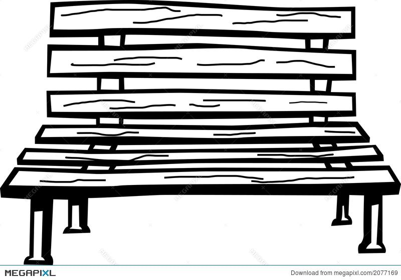 Wooden vector illustration megapixl. Bench clipart wood bench