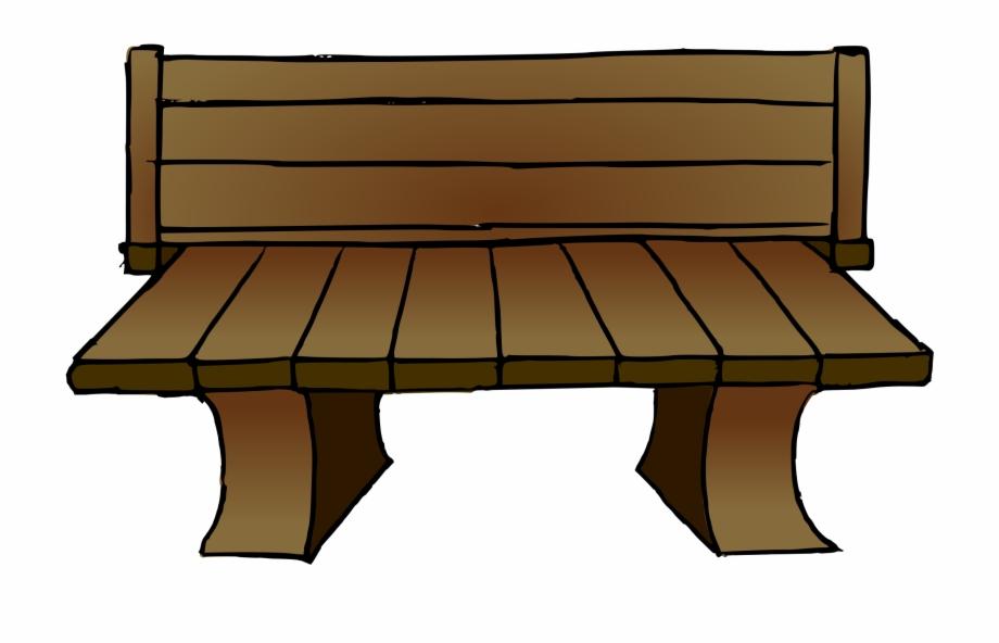 Wooden garden long png. Bench clipart wood bench