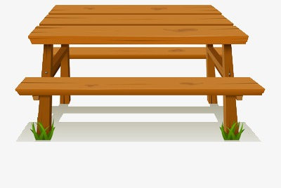 Table benches wood rest. Bench clipart wooden desk