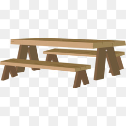 Long png images vectors. Bench clipart wooden desk