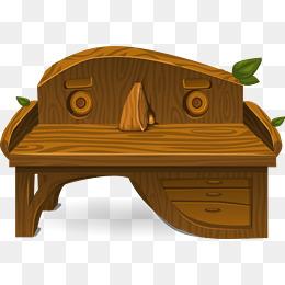 Bench clipart wooden desk. Wood png vectors psd