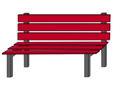 On playground . Bench clipart