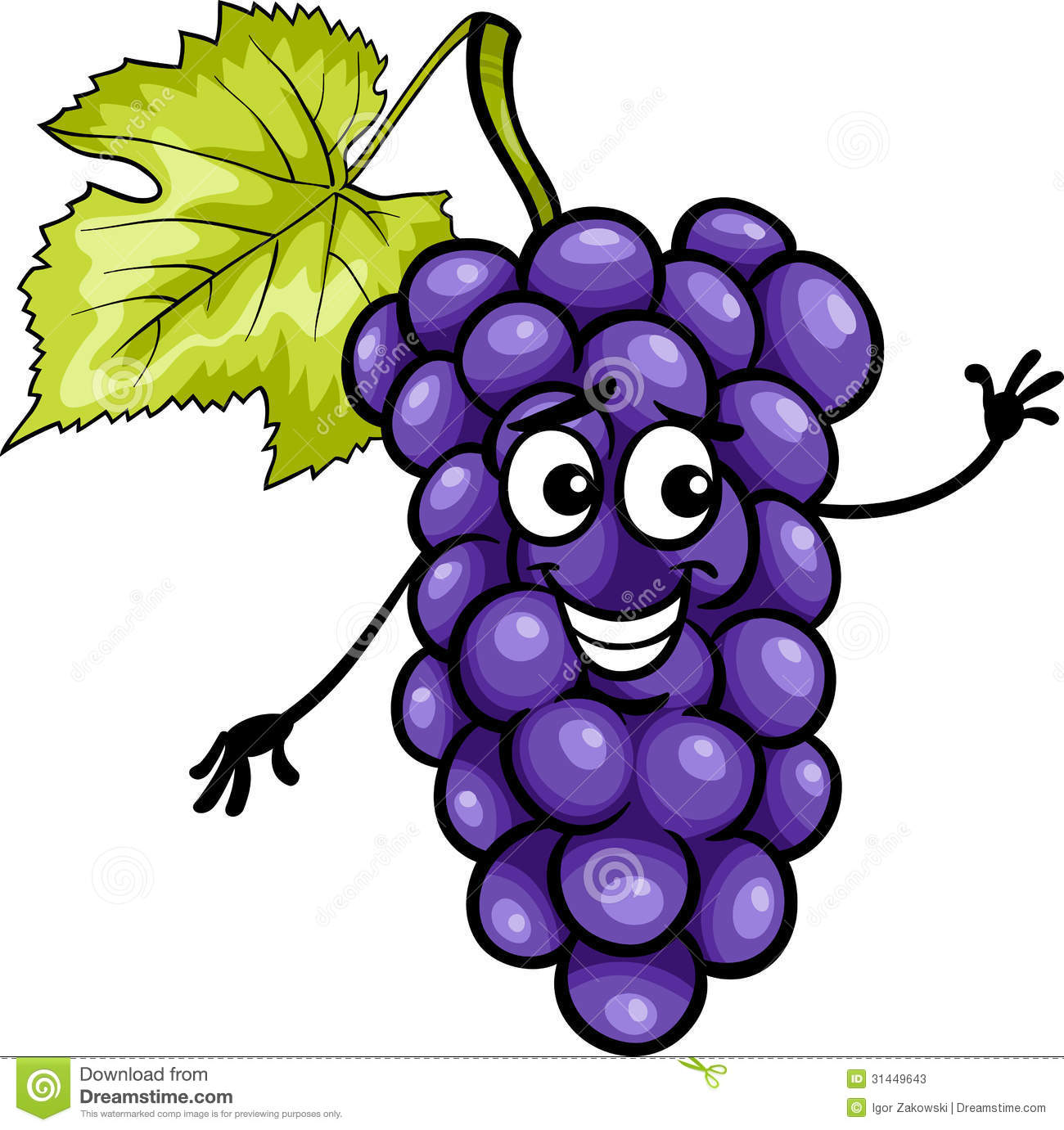 Berries clipart animated. Cartoon fruit grapes