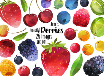 Watercolor by digitalartsi teachers. Berries clipart antioxidant