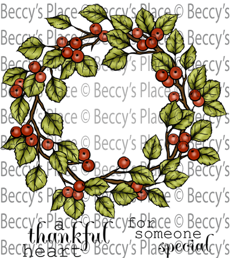 Berries clipart autumn berry. Wreath rubber stamp p