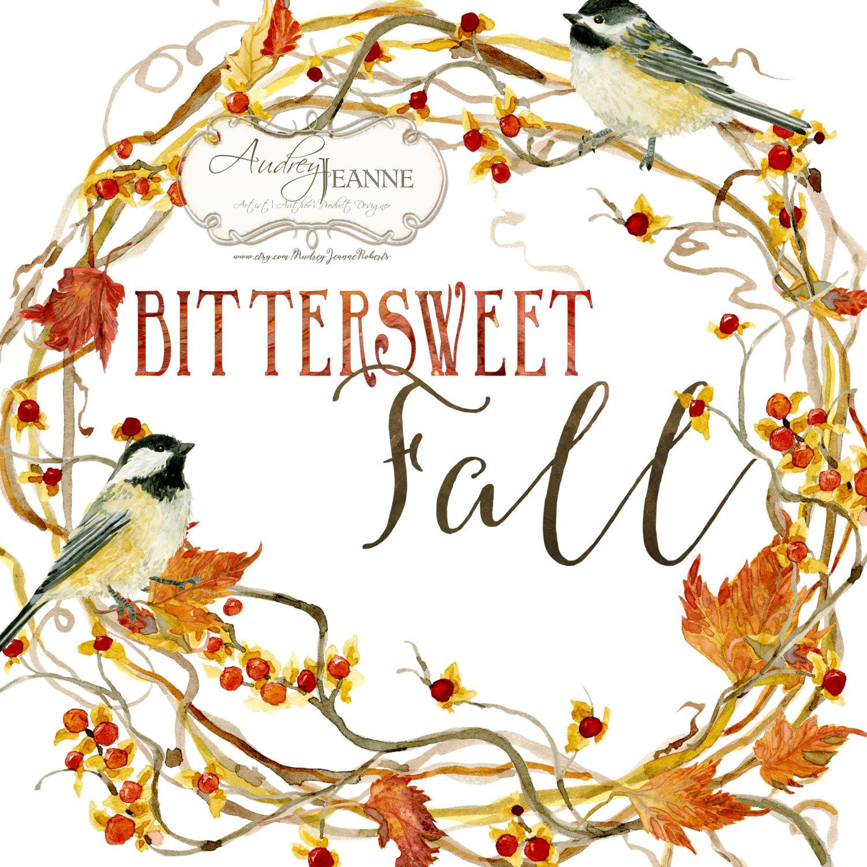 Watercolor fall wreath digital. Berries clipart autumn berry