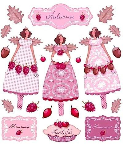 Tilda sticker st von. Berries clipart autumn berry