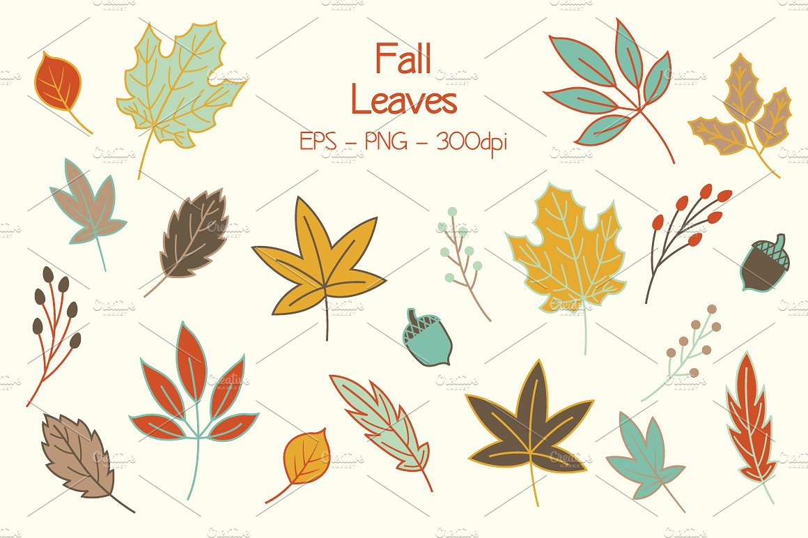 Berries clipart autumn berry. Fall leaves clip art