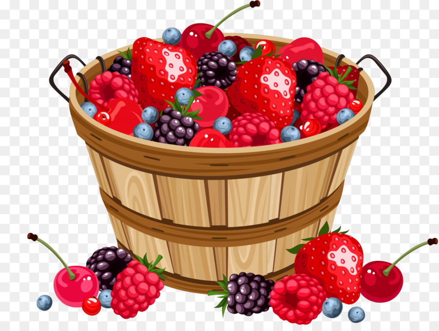 Strawberry clip art png. Berries clipart berry basket