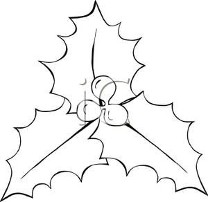 Clip art holly in. Berries clipart black and white