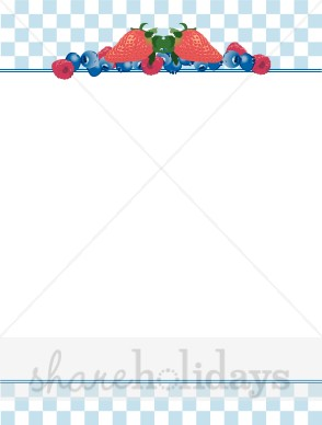 Summer berries party backgrounds. Blueberry clipart border