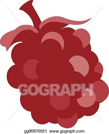 Vector stock huckleberry fruit. Berries clipart boysenberry