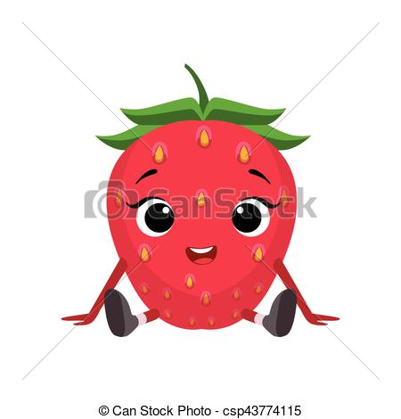 Berries clipart cartoon. Berry cute strawberry free