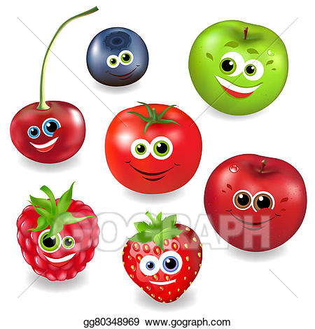 Berries clipart cartoon. Drawing collection fruit and
