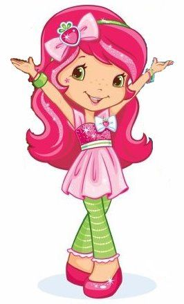 Strawberry shortcake s berry. Berries clipart character
