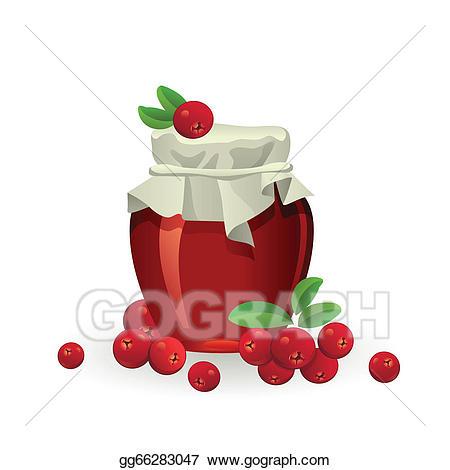 Berries clipart cranberry. Clip art vector jam