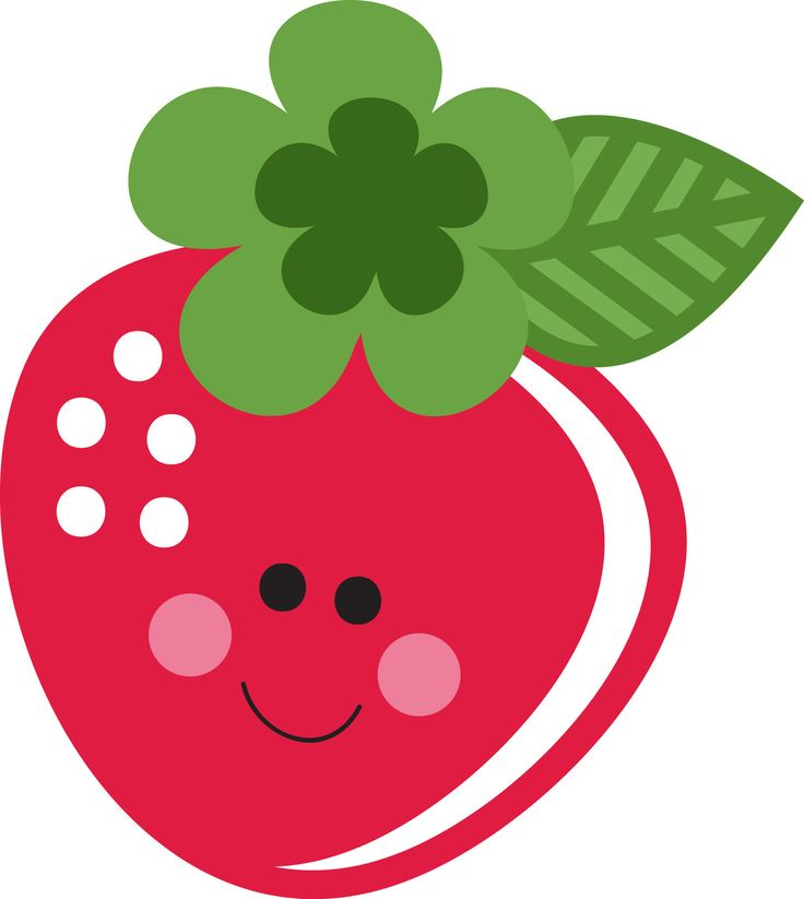 Strawberries clipart cute.  best fruit images
