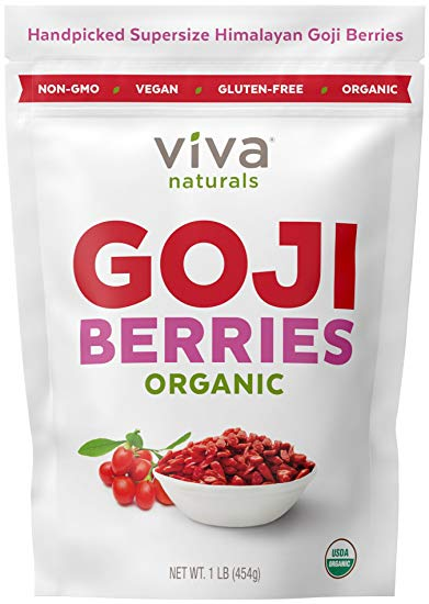Berries clipart goji berries. Amazon com viva naturals