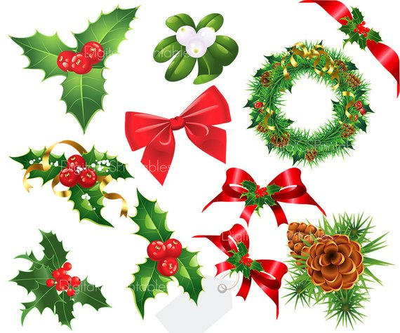 Berry clipart holiday. Christmas clip art holly