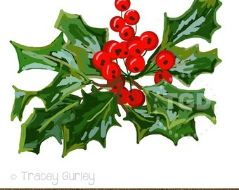 Berries clipart holiday. Beach christmas tree clip