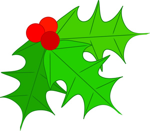 Berries clipart holiday. Free holly clip art