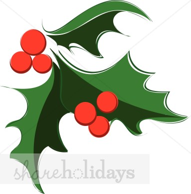 Dynamic holly and berry. Berries clipart holiday