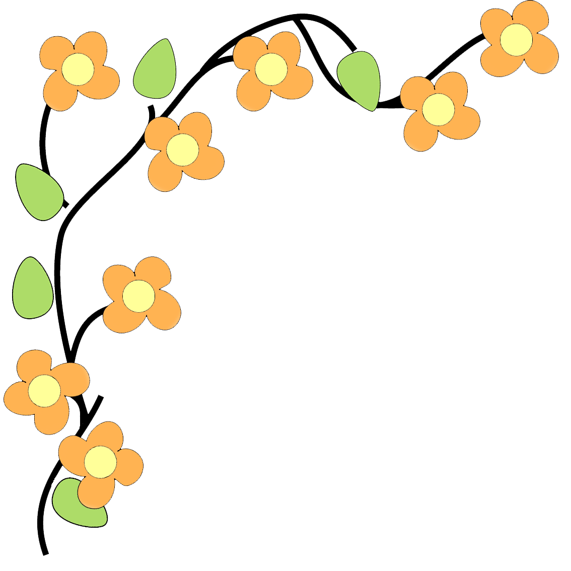 Border kid flowers pinterest. Dig clipart flower