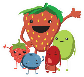 Healthpartners presents yumpower kids. Berries clipart kid