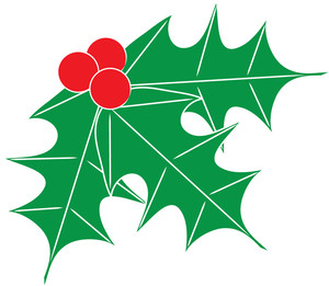 Free clip art image. Berries clipart leaves holly