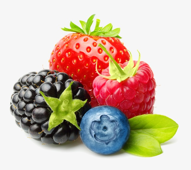 Fruit combo strawberry raspberry. Berries clipart mix