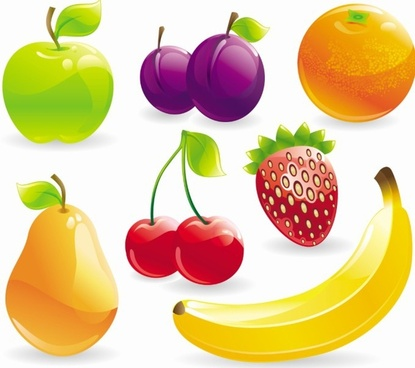 Fruit mix berry free vector download