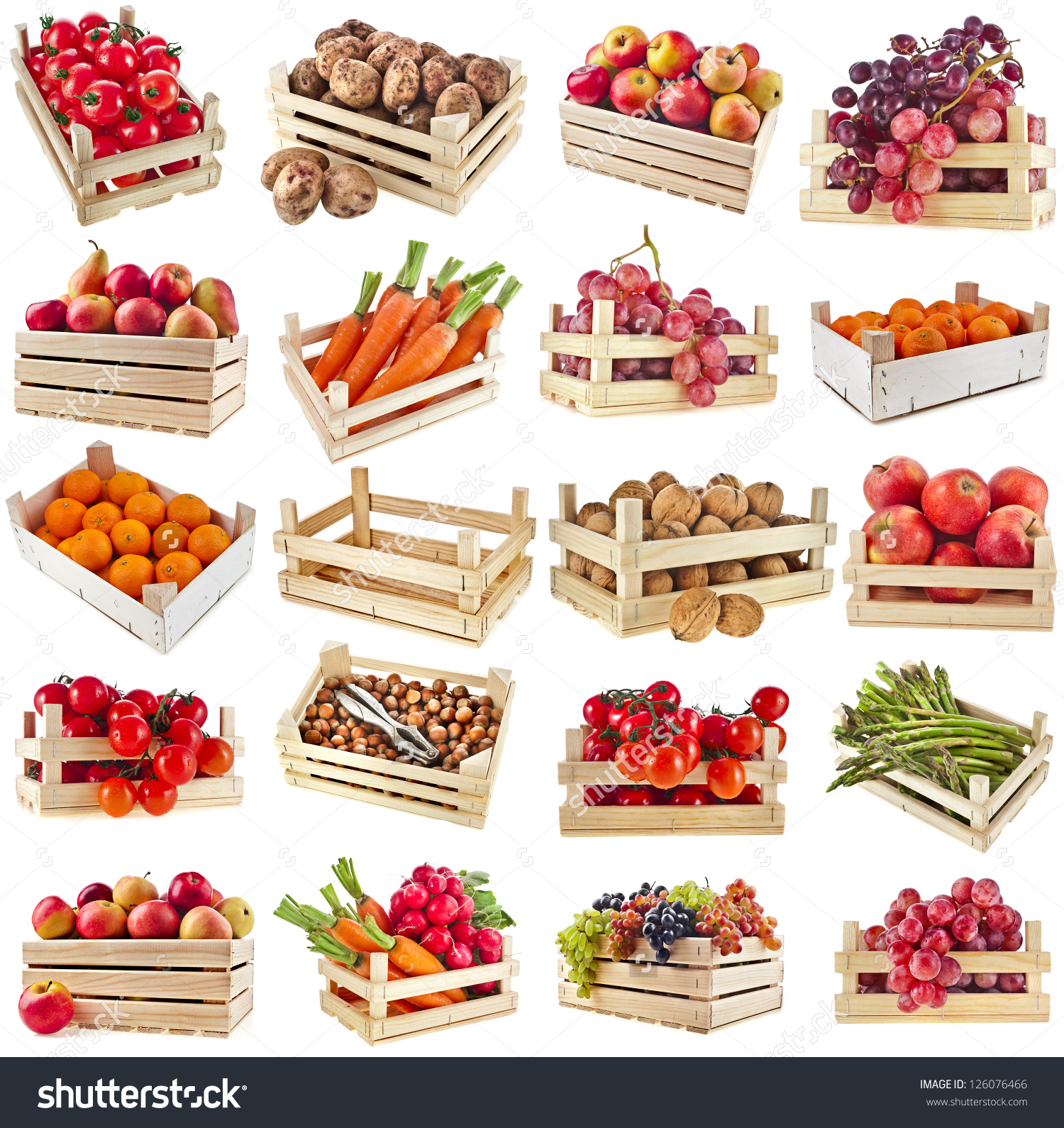 Fruit boxes clipground fresh. Berries clipart nuts