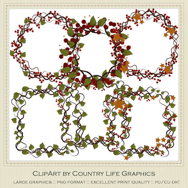 Prim country clip art. Berries clipart primitive