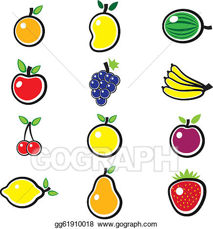 Vector illustration collection of. Berries clipart summer