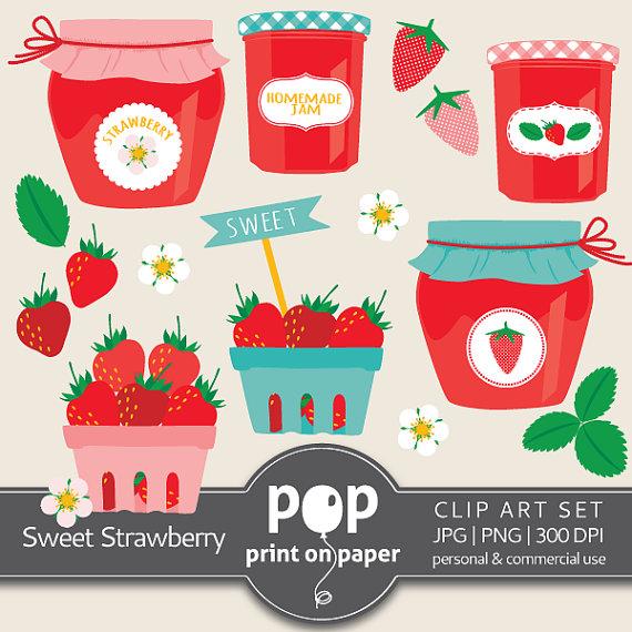Berries clipart summer. Strawberry clip art sweet