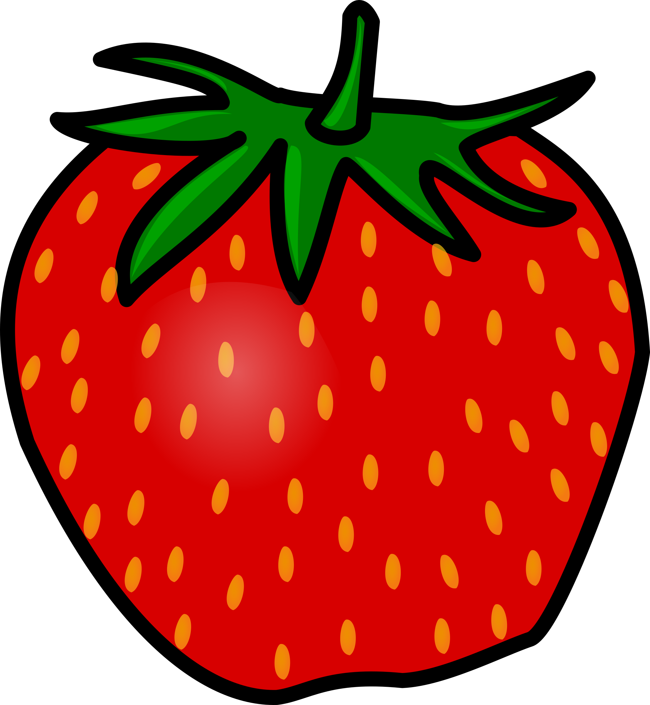 Strawberry. Berries clipart transparent background