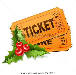 Berries clipart two. Tickets with holly leaves