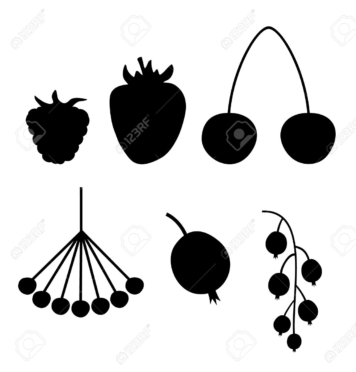 Berries clipart vector. Berry currant pencil and