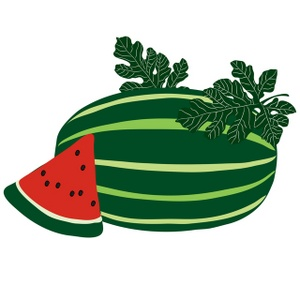 Watermelon clipart oblong. Free slice image food