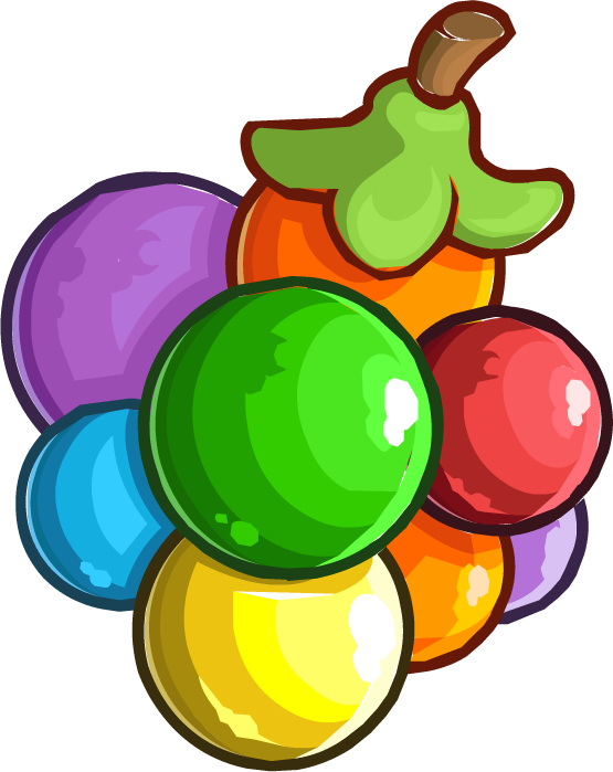 Berries clipart wild berry. Image rainbow puffle cp