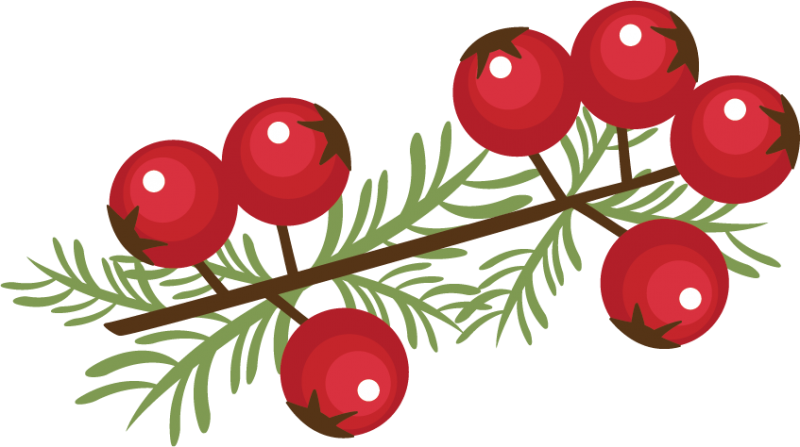 Berry sprig svg cutting. Berries clipart winter