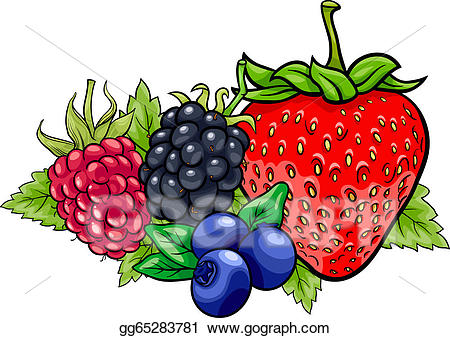 Berry clipart. Clip art vector fruits