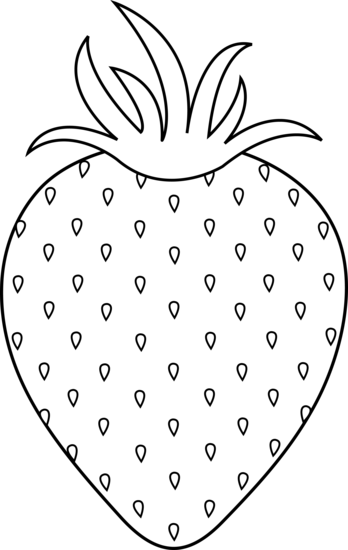 Strawberry colorable lineart free. Strawberries clipart line art