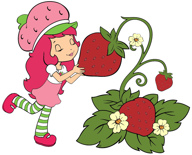 Strawberry shortcake berry bitty. Strawberries clipart cartoon