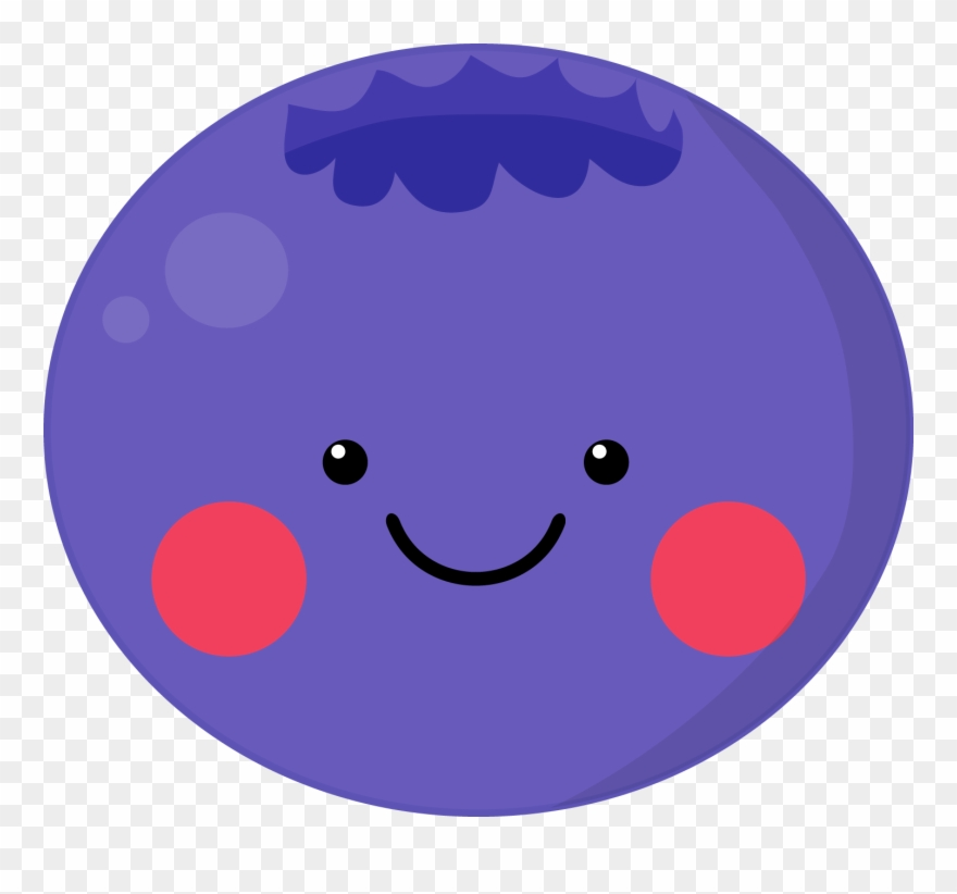 Smiley pinclipart . Blueberry clipart cute