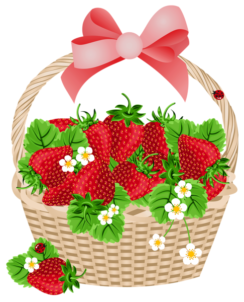 Blueberry clipart blueberry basket. With strawberries transparent png