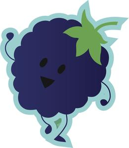 Cute kawaii dancing fruit. Blueberry clipart emoji