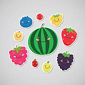 Berries clipart cute. Blueberry clip art royalty