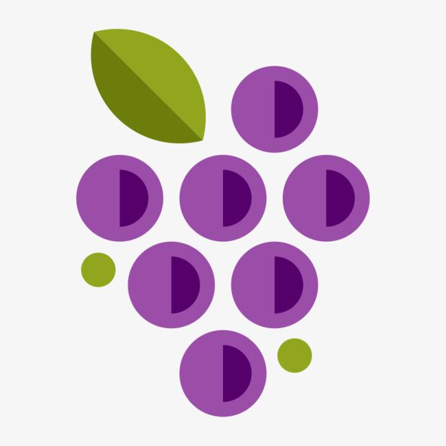 Cartoon berries green round. Berry clipart purple berry