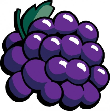 Grapes panda free images. Berry clipart purple berry